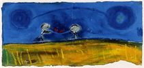 Lovers Alone|2005|pastel on paper|16 x 35.5 cm
